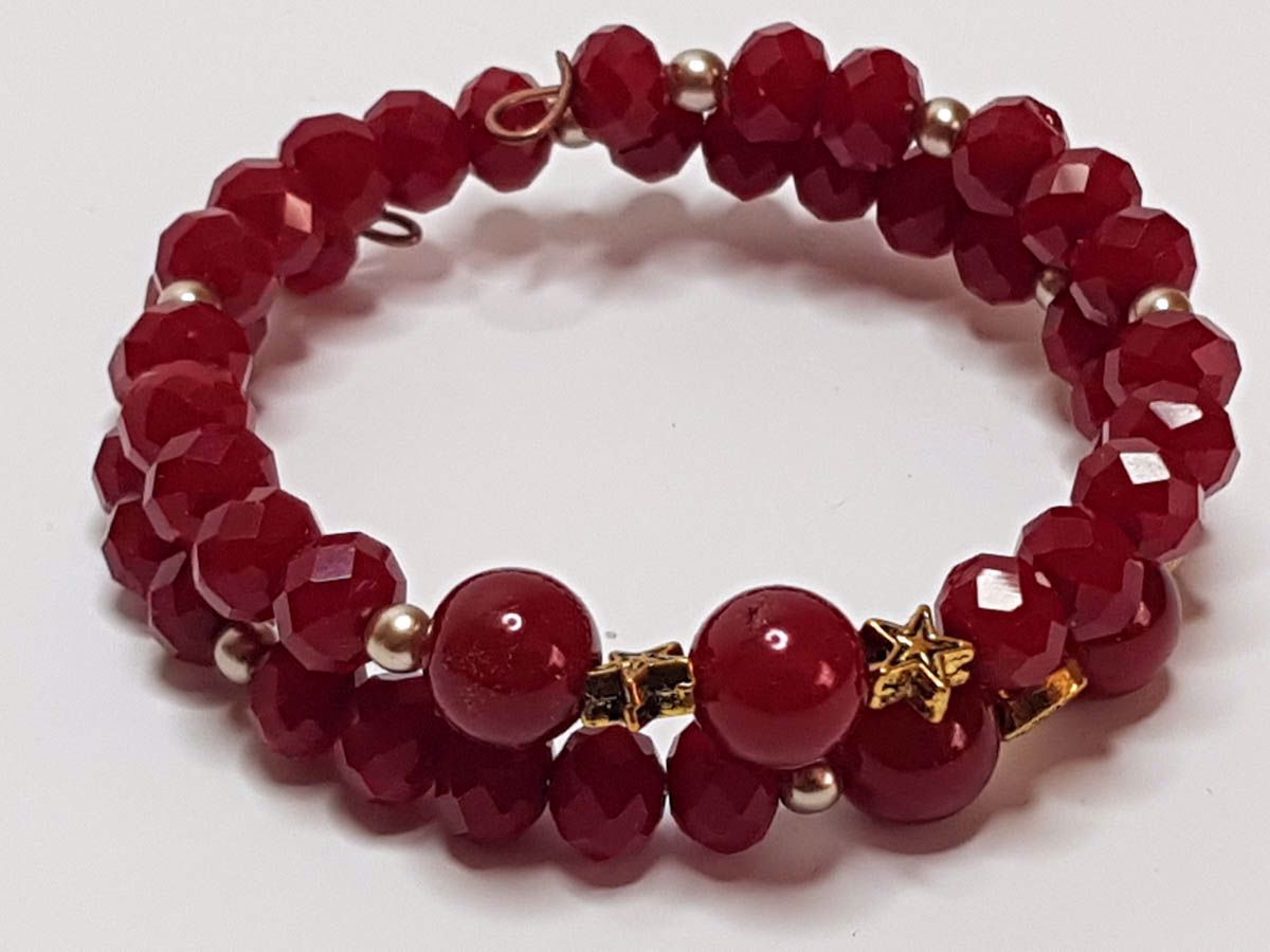 Picture of Red Beads Memory Bracelet . Handmade