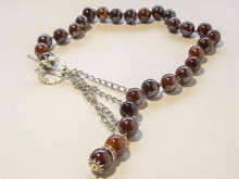 Picture of Ceramic Beads Necklace Handmade - Brown
