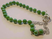 Picture of Ceramic Beads Necklace Handmade - Green
