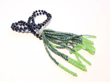 Εικόνα της Woman's Necklace with beads  and big tassel made with beads. Handmade Black