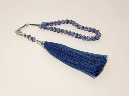 Εικόνα της Greek Komboloi with natural stone and big tassel. Handmade