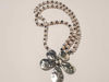 Picture of Woman's Necklace with crystal beads and a big metal star pendant . Handmade