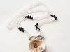 Εικόνα της Woman's Necklace with crystal beads, black chips, metallic infinity element and a big natural seashell. Handmade.