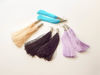 Εικόνα της Woman's Earrings with big silk tassel Various Colors