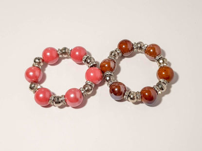 Εικόνα της Woman's Bracelet  with Big Ceramic beads in Various Colors Handmade