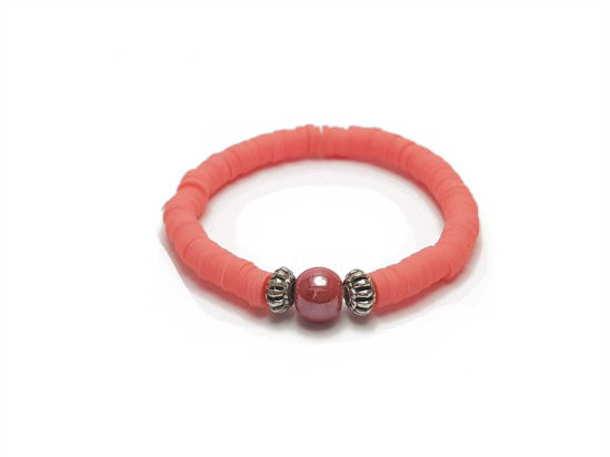Picture of Candy Loop with red beads and red ceramic bead